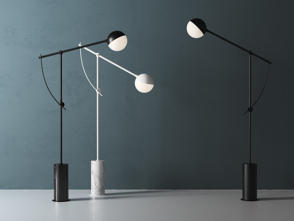 3D balancer floor lamp