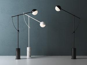 3D balancer floor lamp