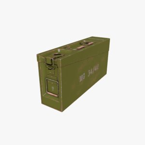 ammo box german ww2 3D model