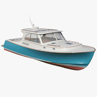 yacht picnic boat 3D