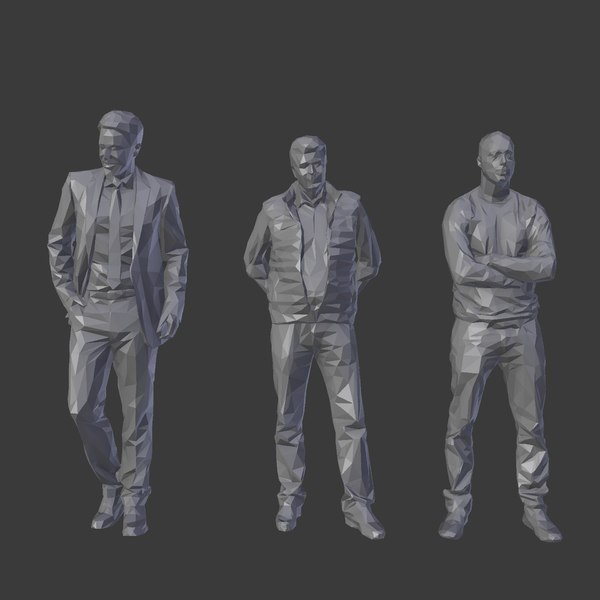 people pack 22 low-poly 3D model