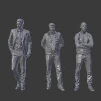 Lowpoly People Pack 22 Low-poly 3D model