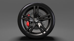 3D vauxhall vxr8 wheel 2017