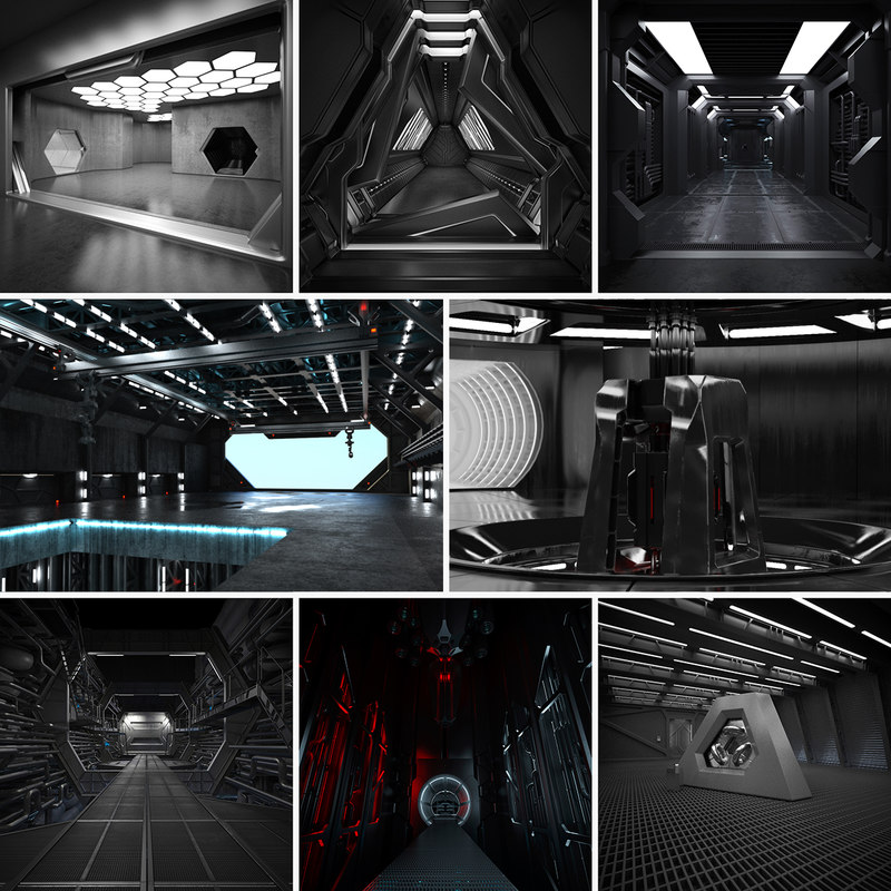 8 sci fi interiors max