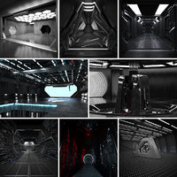 8 Sci Fi Interiors Set