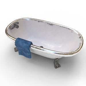 used retro bath tub model