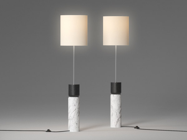 3D stacked marble floor lamp