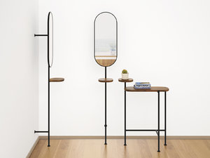 3D loomy coat rack console table