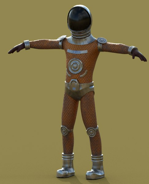 lost astronaut 3D model