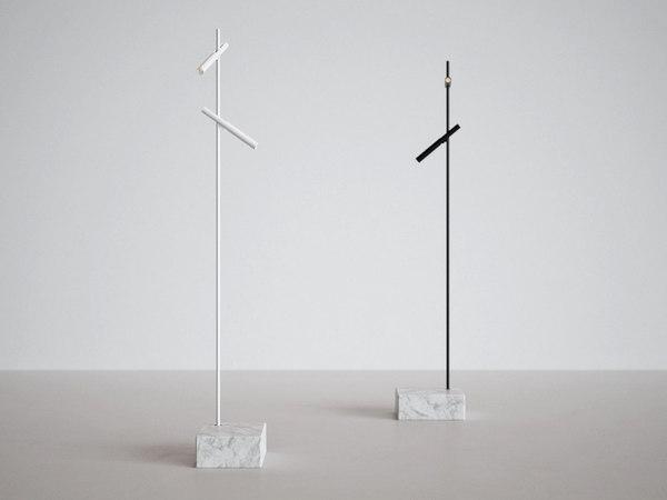esprit double floor lamp 3D model