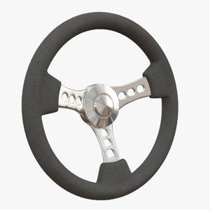 steering wheel 3d 3ds