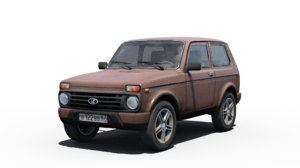 lada niva urban 3D model