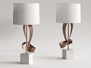 3D dean sculptural table lamp model