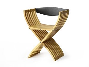 3D curule folding chair