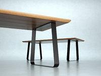 3D model vilna extendable dining table