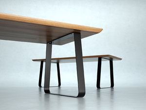 3D model vilna extendable dining table