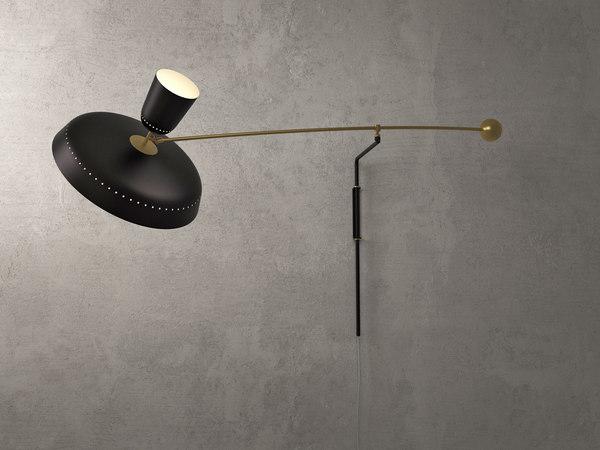 3D french balancier wall lamp model