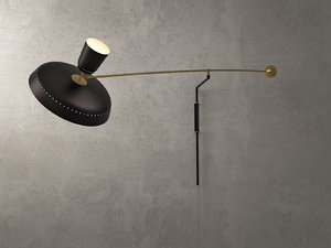 3D french balancier wall lamp model