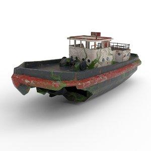 boat wreck 3D model