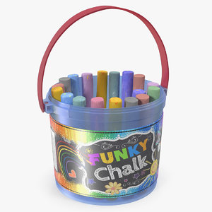 3D coloured chalk bucket