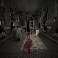 3D corridor hospital room model