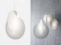 3D overlap suspension lamp model