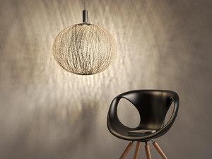 3D pelote pendant lamp model