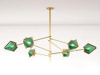 harlow spoke chandelier l model