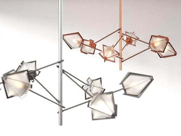3D harlow spoke chandelier s
