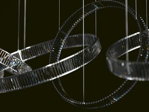 3D model crystal flare chandelier