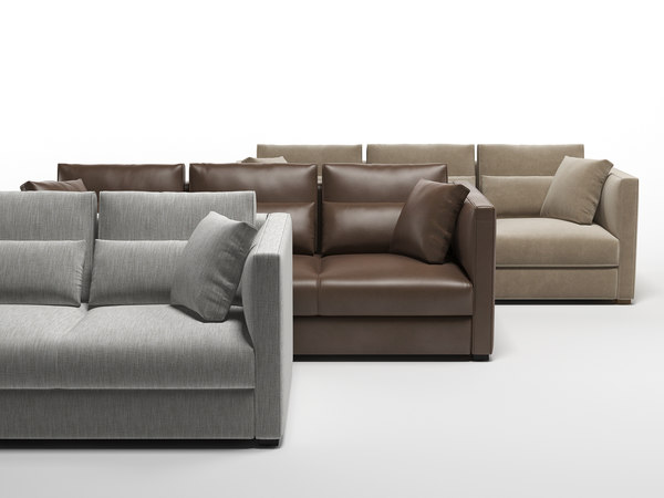 3D estienne large sofa model