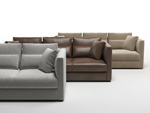 3D estienne large sofa model