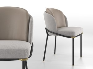 fil noir dining chair 3D