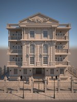 classical residential building 3D model