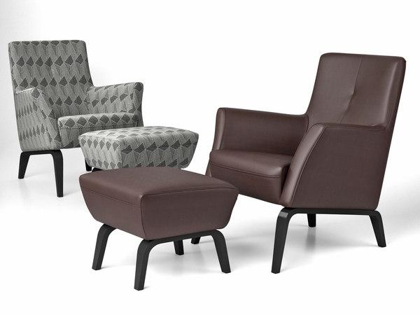 palio armchair pouf 3D model