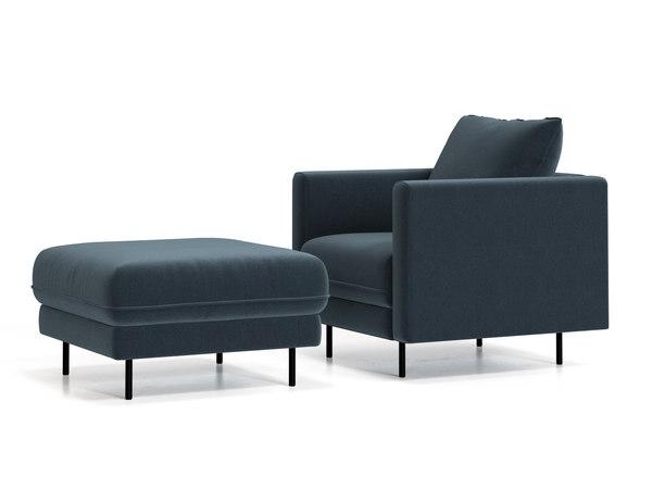 enki armchair ottoman 3D model
