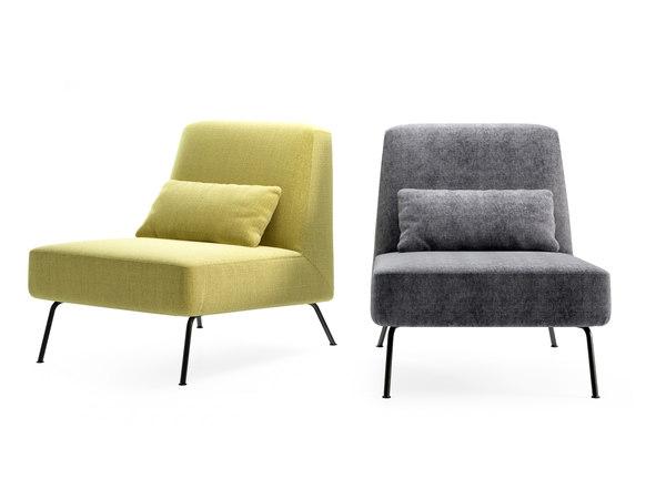 3D model humphrey fireside chair ottoman