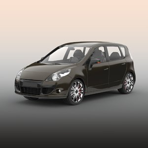 hatchback car materials model