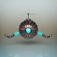 3D futuristic robot