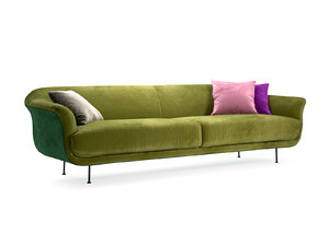 3D style 3-seater sofa model