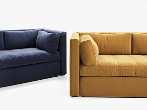 hackney 3-seater sofa 3D model