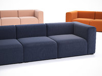3D model mags 3-seater sofa