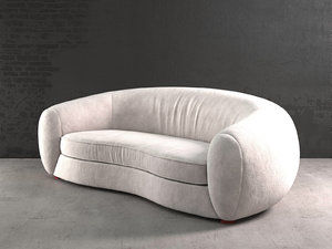 polar bear sofa 3D