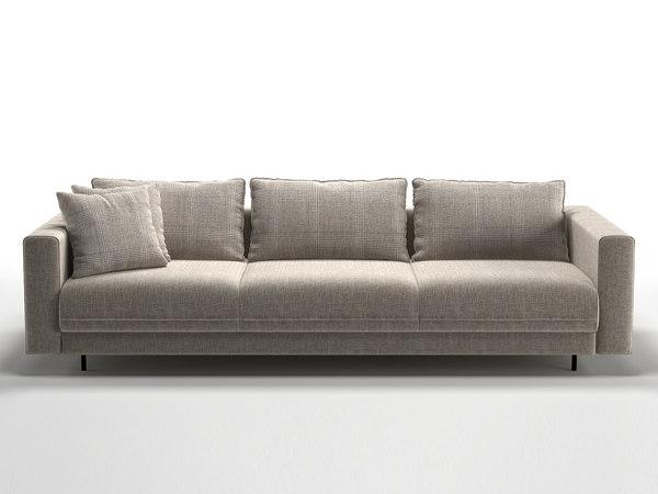 enki 3-seater sofa 3D model