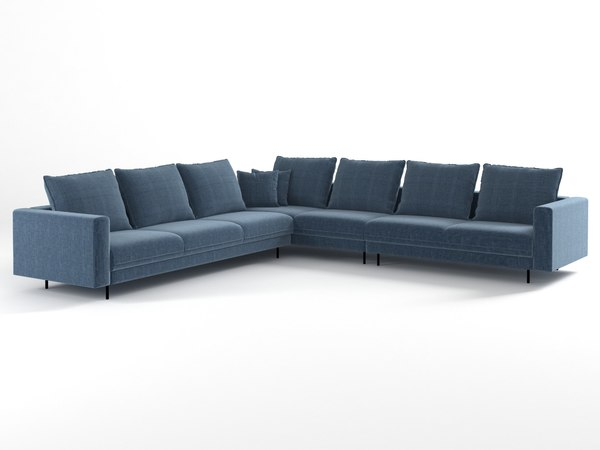enki corner sofa 3D