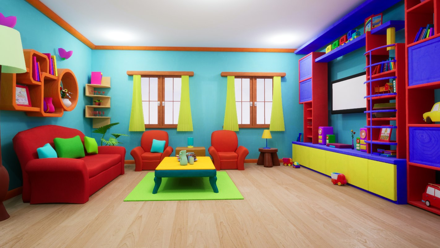 Livingroom Cartoon Asset 3d Turbosquid 1388890