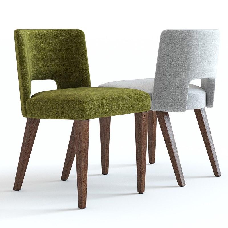 3d West Elm Ava Dining Chair Turbosquid 1388886