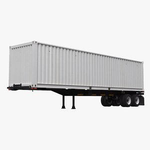 3D intermodal container trailer