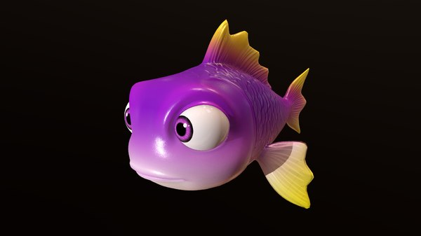 fish - animal cartoons 3D model