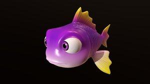 fish - animal cartoons 3D model